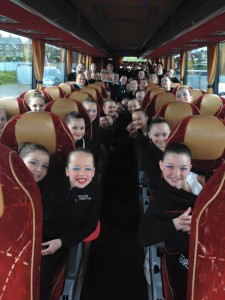 Dance Students on the bus to the Alhambra - Fearons Middleton